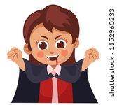 cute little girl dressed up as... | Shutterstock .eps vector #1152960233