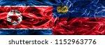 north korea vs liechtenstein... | Shutterstock . vector #1152963776
