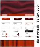 light red vector style guide...