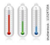 temperature indicators full... | Shutterstock .eps vector #115297354
