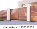 automatic sliding gates made... | Shutterstock . vector #1152975356