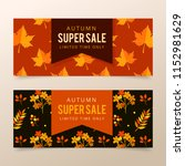 autumn sale banners | Shutterstock .eps vector #1152981629