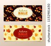 autumn sale banners | Shutterstock .eps vector #1152981650