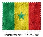 the senegal flag painted on... | Shutterstock . vector #115298200