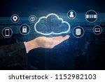 double exposure of professional ... | Shutterstock . vector #1152982103