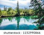 hot summer day hiking through... | Shutterstock . vector #1152990866