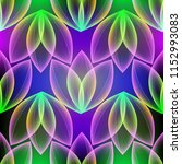 glowing colorful floral vector... | Shutterstock .eps vector #1152993083
