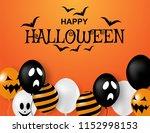 happy halloween . design with... | Shutterstock .eps vector #1152998153