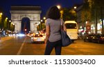 tourist woman standing on the... | Shutterstock . vector #1153003400