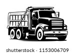 Tipper truck. vector illustration - stock vector