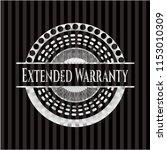 extended warranty silvery badge | Shutterstock .eps vector #1153010309