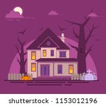 halloween haunted house.old...   Shutterstock .eps vector #1153012196