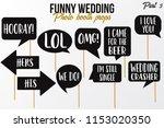 funny wedding photobooth props... | Shutterstock .eps vector #1153020350