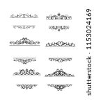 vintage vector swirl frame set... | Shutterstock .eps vector #1153024169
