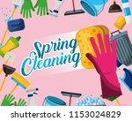 spring cleaning concept | Shutterstock .eps vector #1153024829