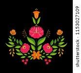 hungarian folk pattern vector.... | Shutterstock .eps vector #1153027109