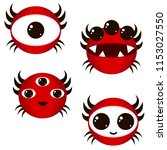 vector red monster emotions....
