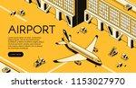 airport freight logistics... | Shutterstock .eps vector #1153027970