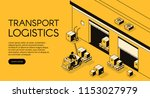 warehouse transport logistics... | Shutterstock .eps vector #1153027979