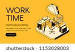 office workplace vector... | Shutterstock .eps vector #1153028003