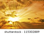 sunset   sunrise with clouds ... | Shutterstock . vector #115302889