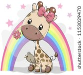 greeting card cute cartoon... | Shutterstock .eps vector #1153029470