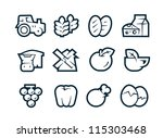 agriculture icons   Shutterstock .eps vector #115303468