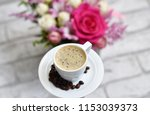 delicious and aromatic coffee... | Shutterstock . vector #1153039373