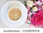 delicious and aromatic coffee... | Shutterstock . vector #1153039376