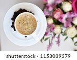 delicious and aromatic coffee... | Shutterstock . vector #1153039379