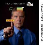 senior caucasian man pressing...   Shutterstock . vector #1153049453