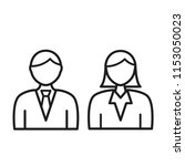 people vector icon  person... | Shutterstock .eps vector #1153050023