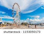 rimini  italy   june 14  2018 ... | Shutterstock . vector #1153050173