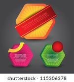 modern web element design | Shutterstock .eps vector #115306378
