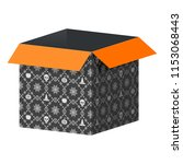 big open black box template... | Shutterstock .eps vector #1153068443