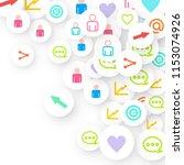 social media marketing ...   Shutterstock .eps vector #1153074926