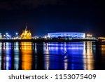 football stadium and alexander... | Shutterstock . vector #1153075409