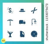 modern  simple vector icon set... | Shutterstock .eps vector #1153075673