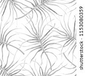 watercolor tropical seamless... | Shutterstock . vector #1153080359