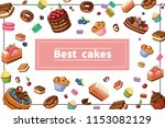 cartoon sweets colorful concept | Shutterstock .eps vector #1153082129