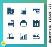 modern  simple vector icon set... | Shutterstock .eps vector #1153084286