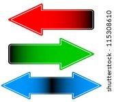 arrows icon. illustration on... | Shutterstock .eps vector #115308610
