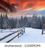 Dramatic Winter Landscape In...