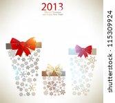 elegant  christmas background... | Shutterstock .eps vector #115309924