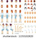 cartoon of female body. various ...   Shutterstock .eps vector #1153102820