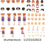 young cute girl with the many...   Shutterstock .eps vector #1153102823