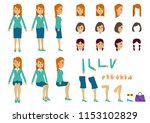 cute women with many poses....   Shutterstock .eps vector #1153102829