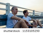 two profesional athletes... | Shutterstock . vector #1153105250
