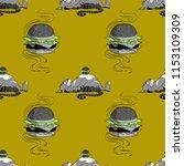huge hamburger and fat cat...   Shutterstock .eps vector #1153109309