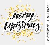 christmas vector phrase... | Shutterstock .eps vector #1153110203